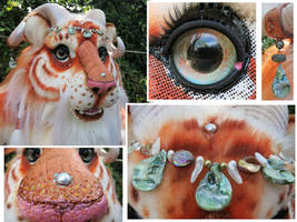 Fantasy Tiger details by LilleahWest