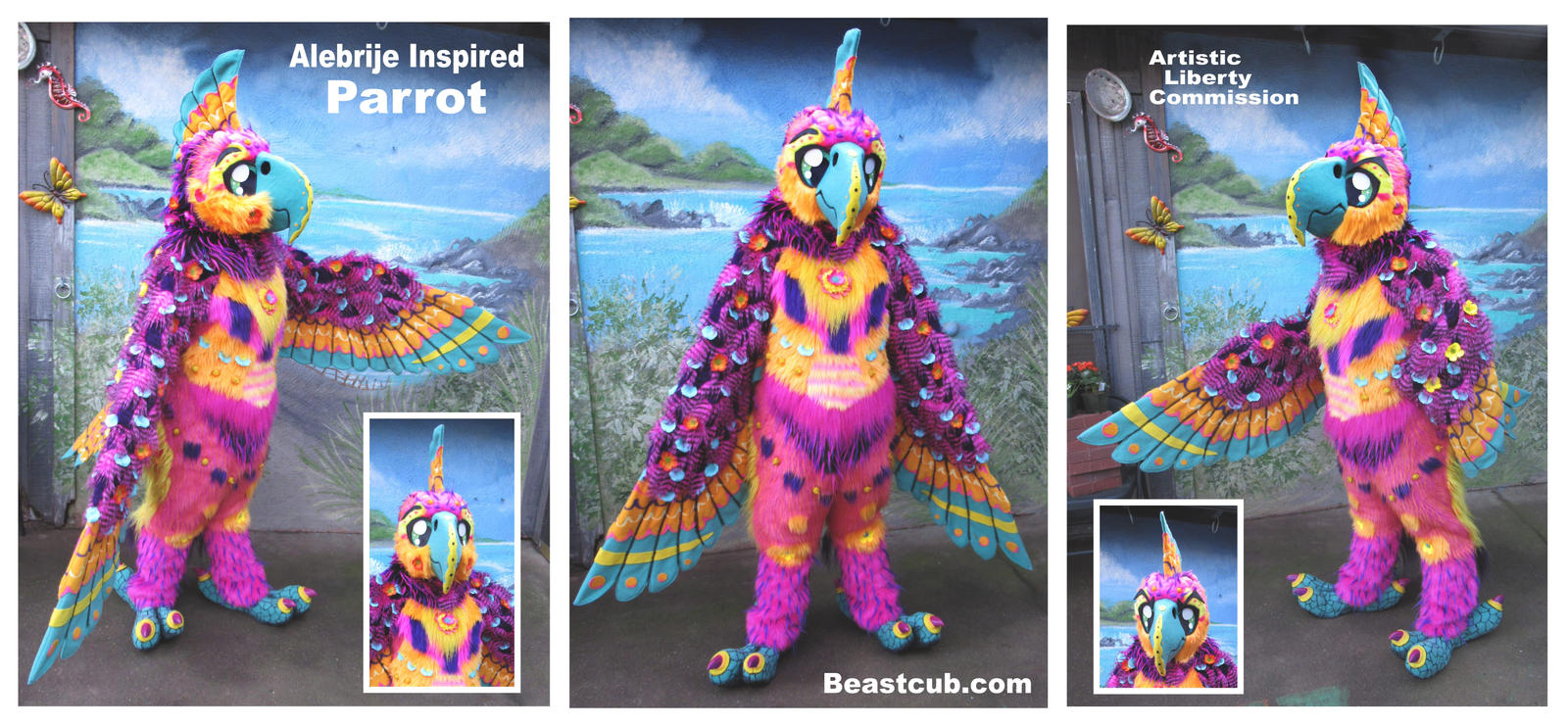 Alebrije Theme Parrot by LilleahWest