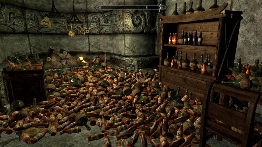 Skyrim- My Booze Room by Oh-La-Vache