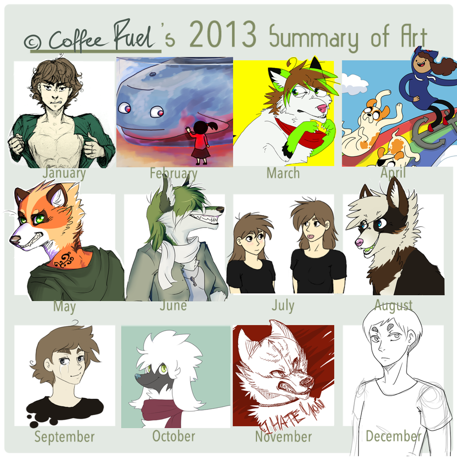 2013 Summary of Art by CoffeeFuel