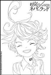 Emma (Lineart - Yakusoku no Neverland)
