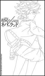 Emma 'Antenna' (Lineart - Yakusoku no Neverland)