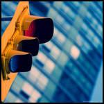 Downtown Streetlight by hesitation
