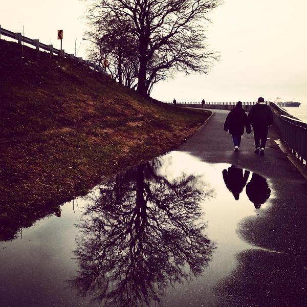 Fort Hamilton In The Rain by hesitation