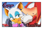 Rouge and Knuckles by GeminiGirl83