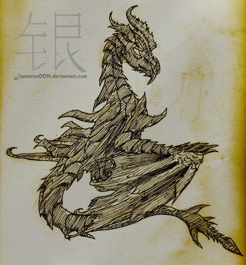 Alduin Sketch By Bronydrake On DeviantArt