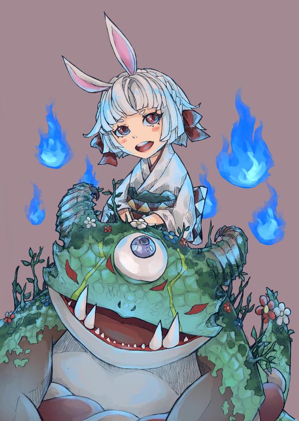 Yamausagi - Onmyoji Fan Art Contest by Aqueos12