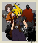Cloud, Yuffie and Vincent