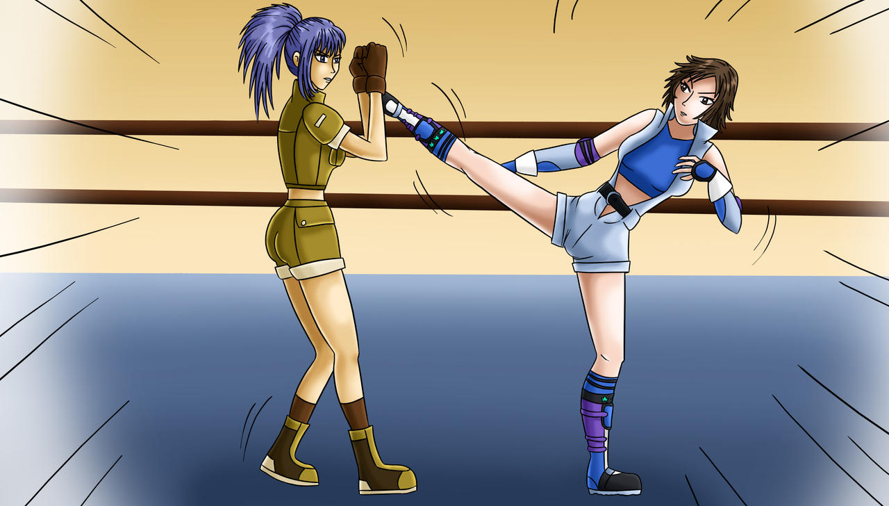 Leona Heidern vs Asuka Kazama by kaeveris