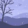 Christmas Challenge 2016 - Day 1 -  First Snowfall by kaeveris
