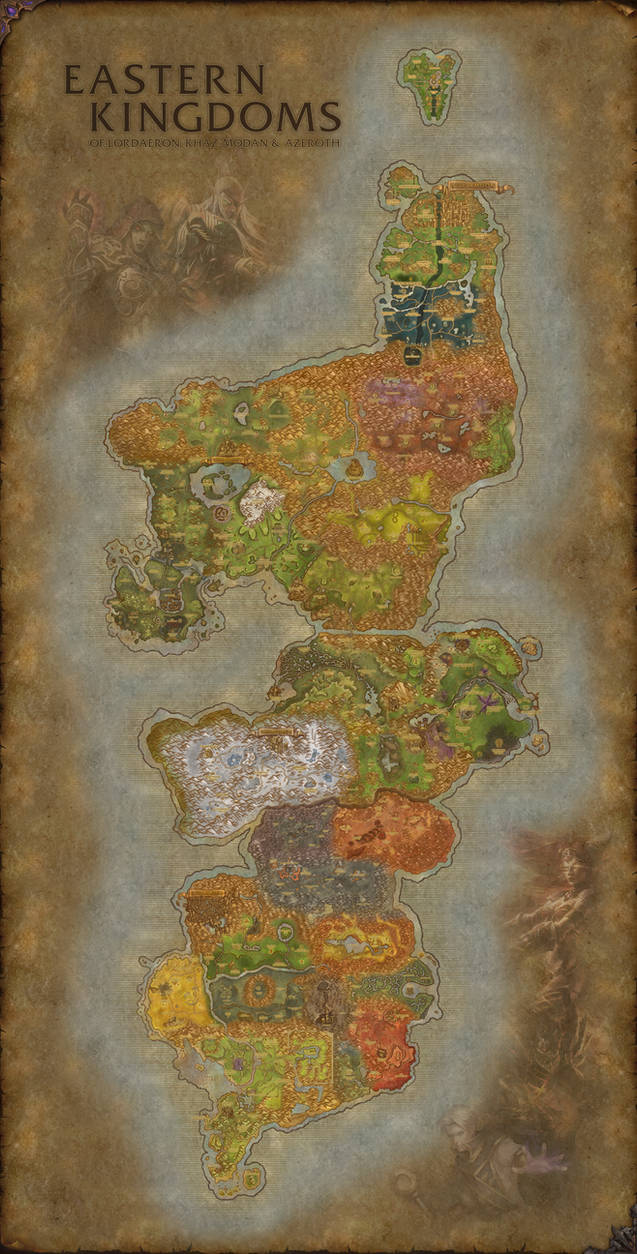Eastern Kingdoms Map World of Warcraft Eastern Kingdoms map | Fanart by
