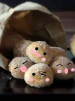 cute bite-size donuts by kuro-neko-chama