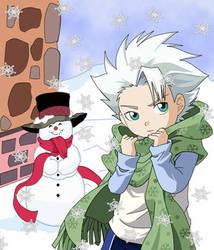XToshiroX Snow and Christmas by Bleach-Squad-10-Club
