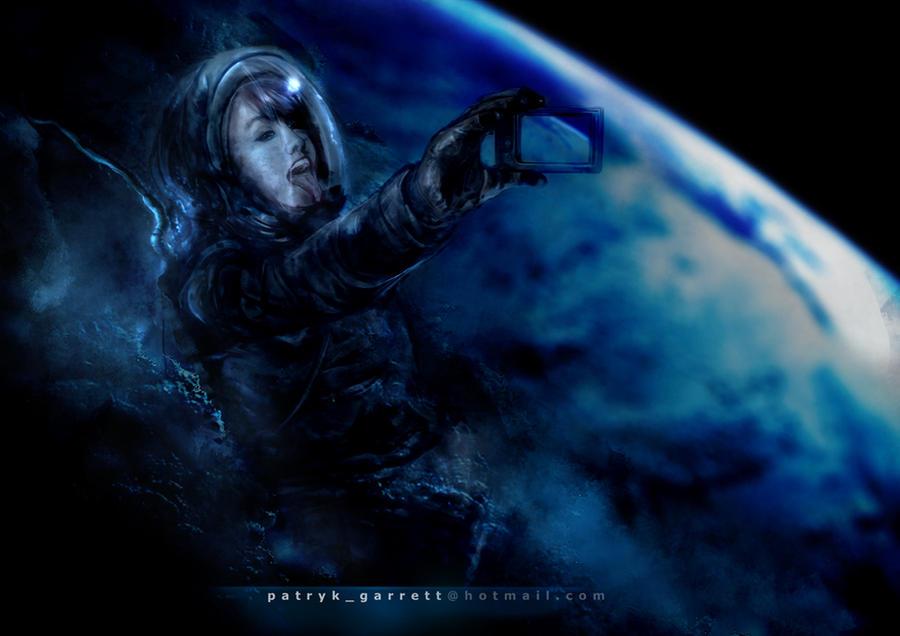 Astronaut Girl by patryk-garrett