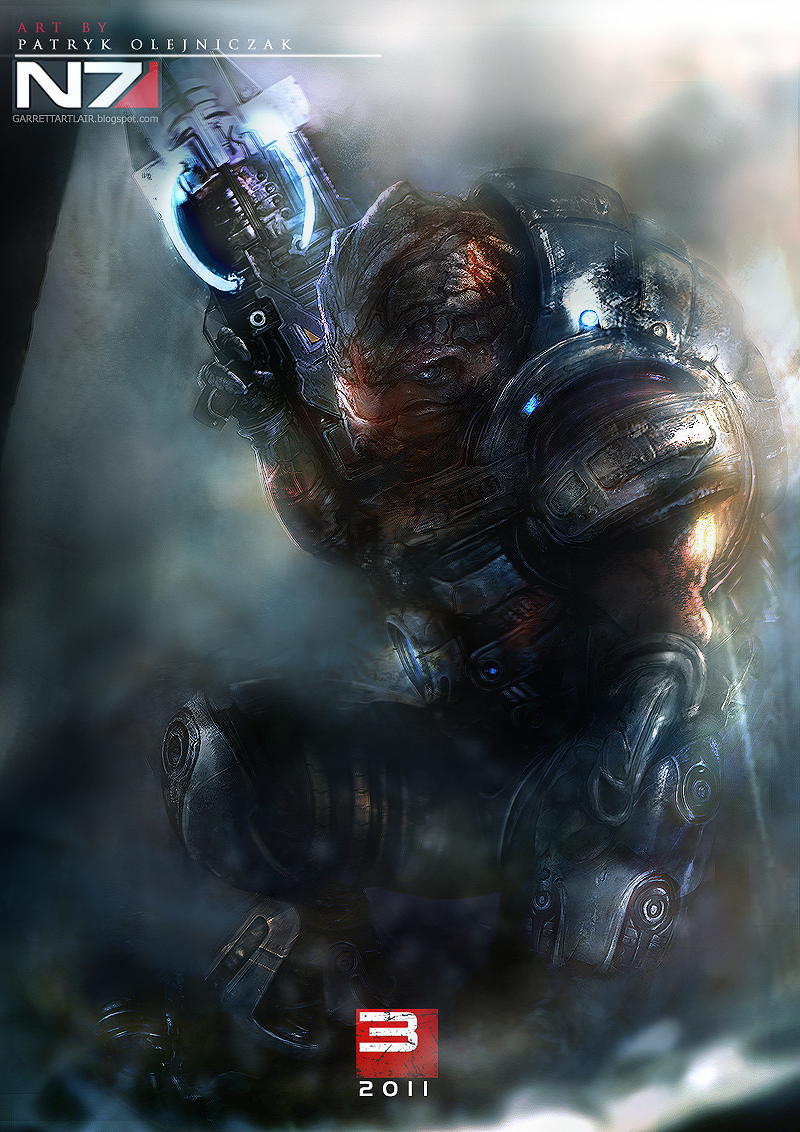 Mass Effect 3 - Grunt by patryk-garrett