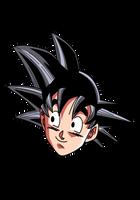 Cabeza de Goku by aliensurxx