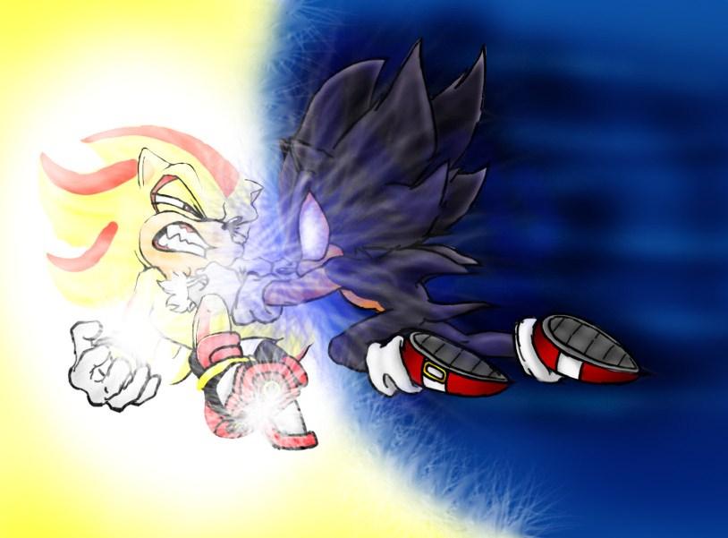D. S. Sonic VS S. Shadow by Frankyding90 on DeviantArt