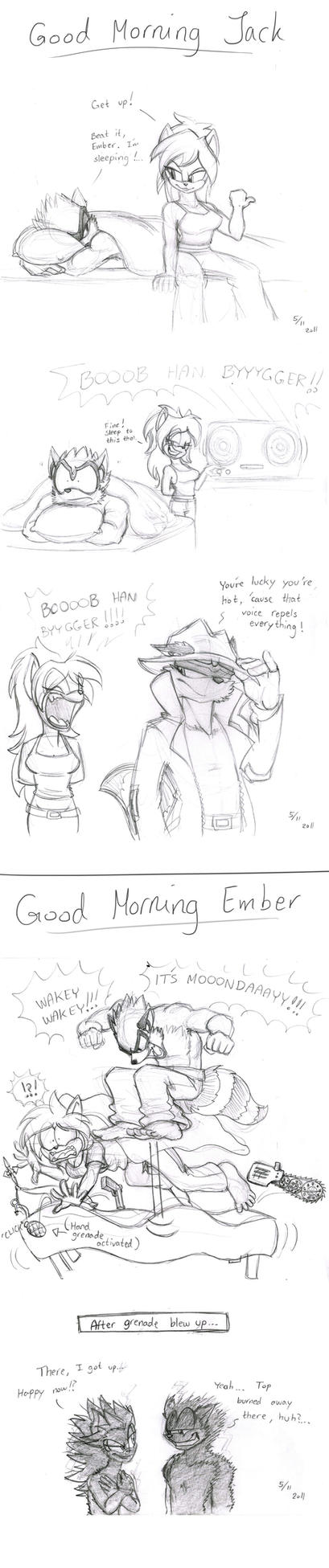 Good Morning Jack and Ember by Frankyding90