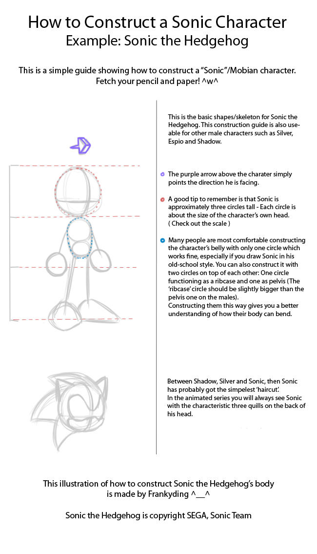 How To Draw Sonic The Hedgehog By Frankyding90 On Deviantart