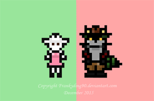 Fiona and Jack [Pixels!] by Frankyding90