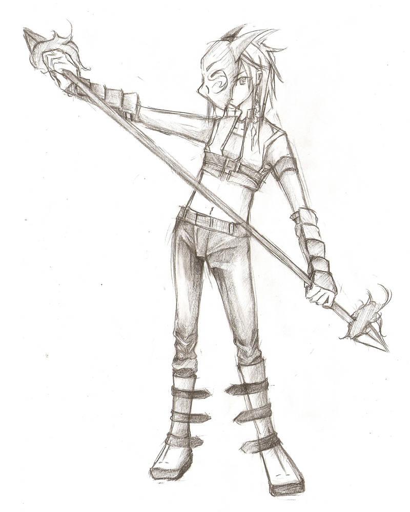 Double Ended Spear by Munesansun on DeviantArt