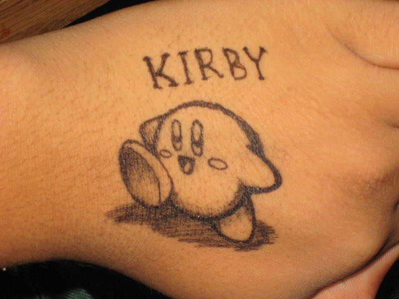 Kirby kirby kirby pen tattoo by psychoticmindsystem on for Tattoo with pen