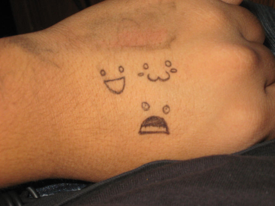 3 expressions pen tattoos by psychoticmindsystem on deviantart for Tattoo with pen