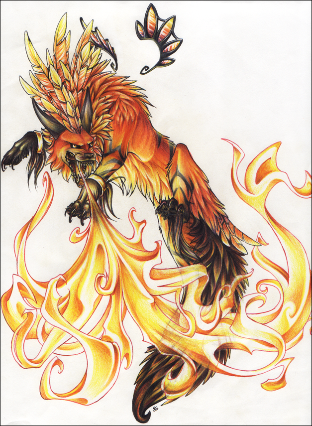 Winged Blue Fire Wolf Anime Fire Wolves With Wings