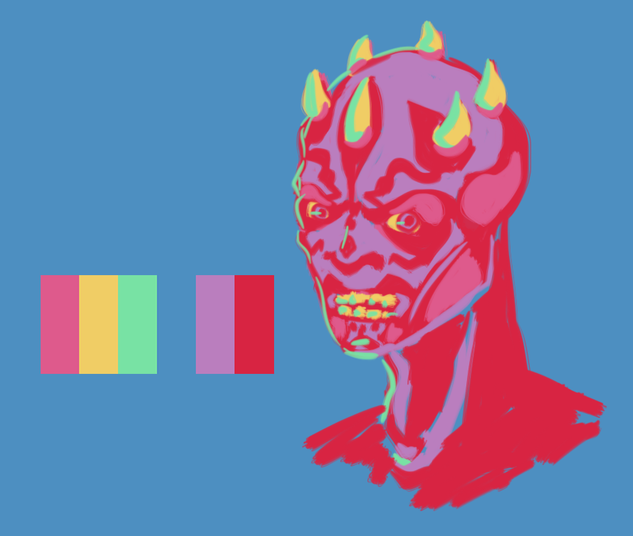 Colour Palette challenge: Darth Maul by Elsendor