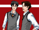 Padfoot and Prongs colored