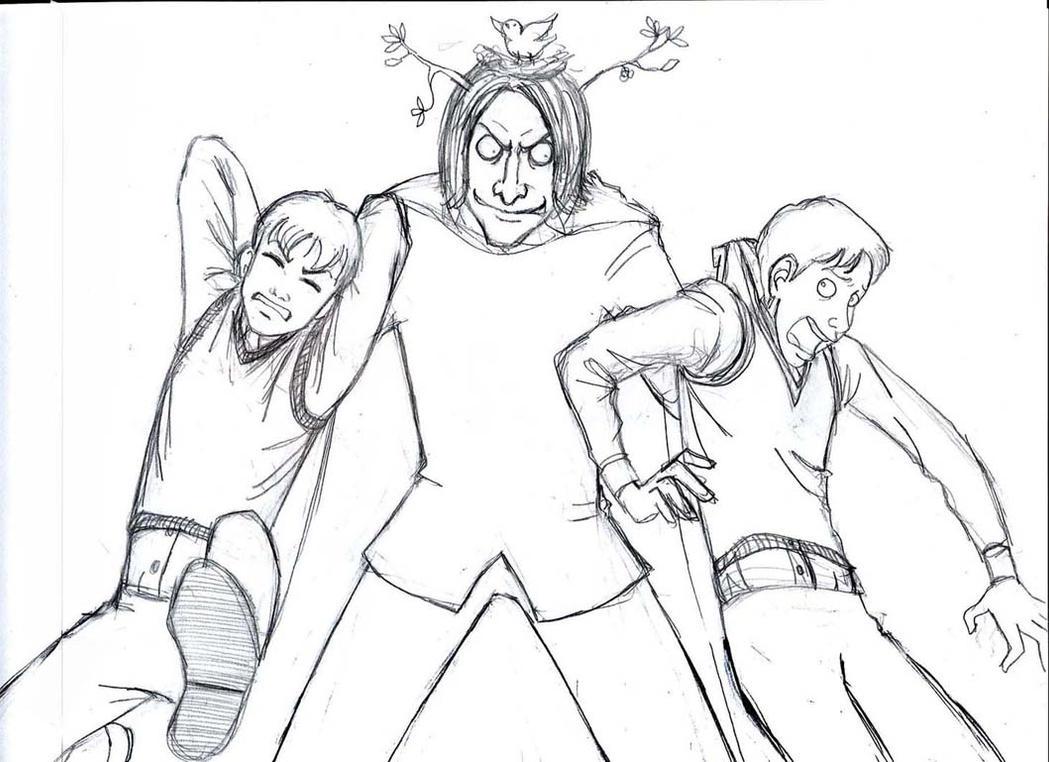 Snape's Sense of Humor sketch by girl2004