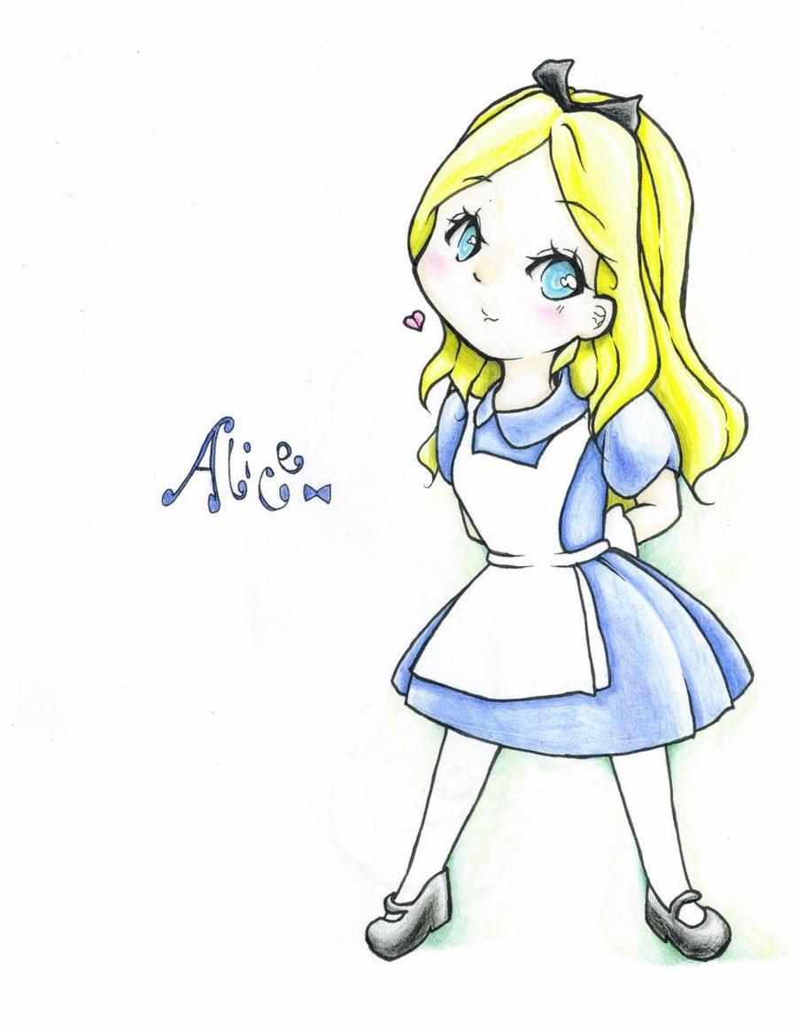 Disney princess alice chibi