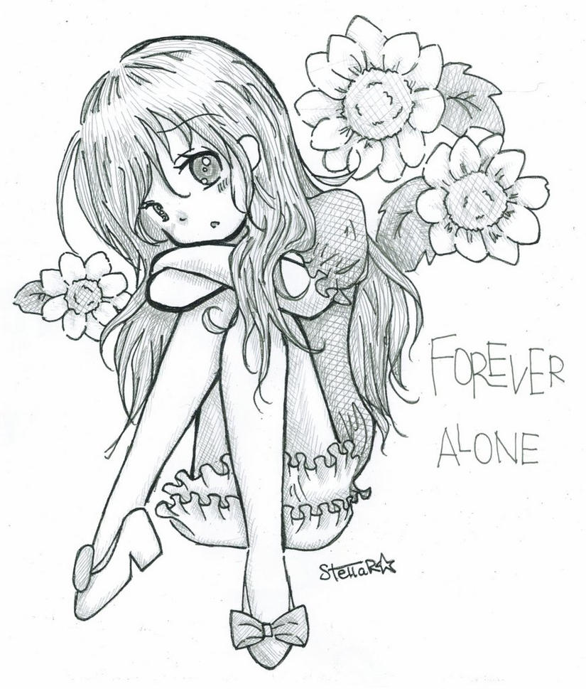 forever alone drawing by - photo #36