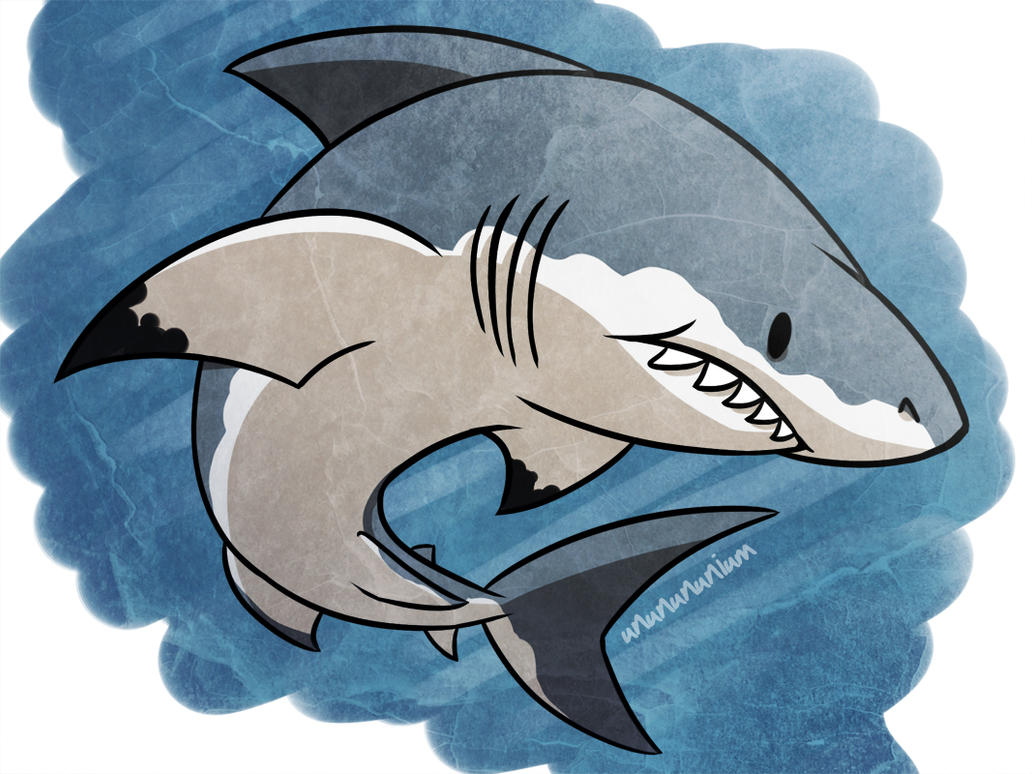 shark week day 6- GREAT WHITE by unbadger on DeviantArt