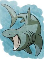 shark week day7- BASKING SHARK by unbadger