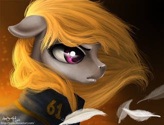 Commission - Dovetail, OC pony by PaintedHoofprints