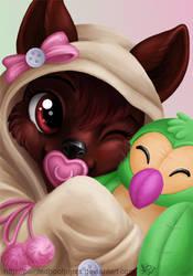 Too Cute for Words by PaintedHoofprints