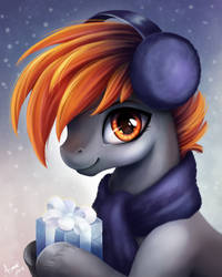 Merry Christmas from Drax! by PaintedHoofprints