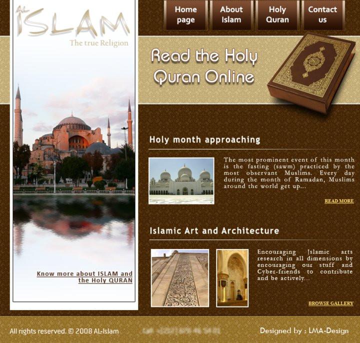 muslim will template - al islam website template by lma design on deviantart