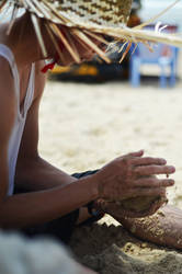 Playing with the sandball by AmieKJS