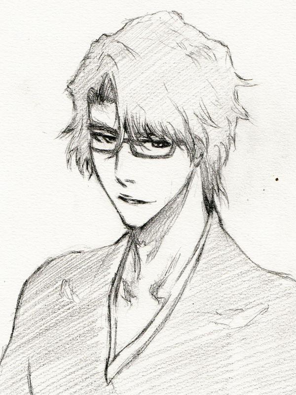 Aizen Sosuke sketch test by Kamest