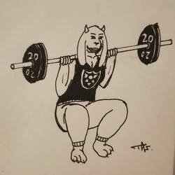 Toriel goes to the gym : Day 1 by Tagpower
