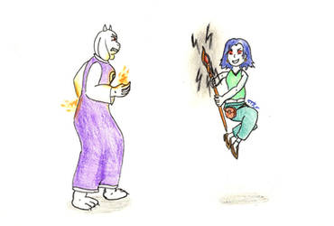 Toriel vs. Misery by Tagpower