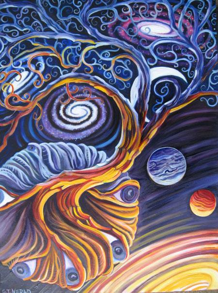 Intergalactic Tree by Aoxomoxoa9