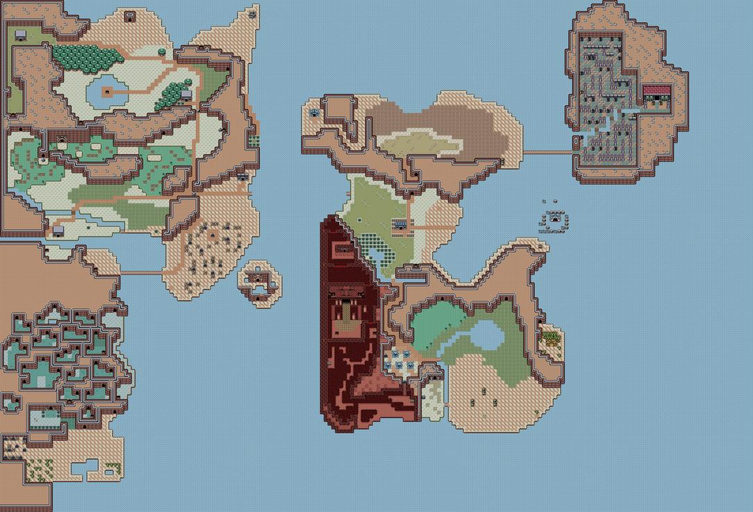 Zelda II World Map Link awakening Tiles by Hyrule452 on DeviantArt
