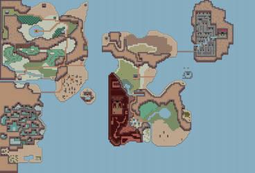 Zelda II World Map -( Link awakening Tiles ) by Hyrule452