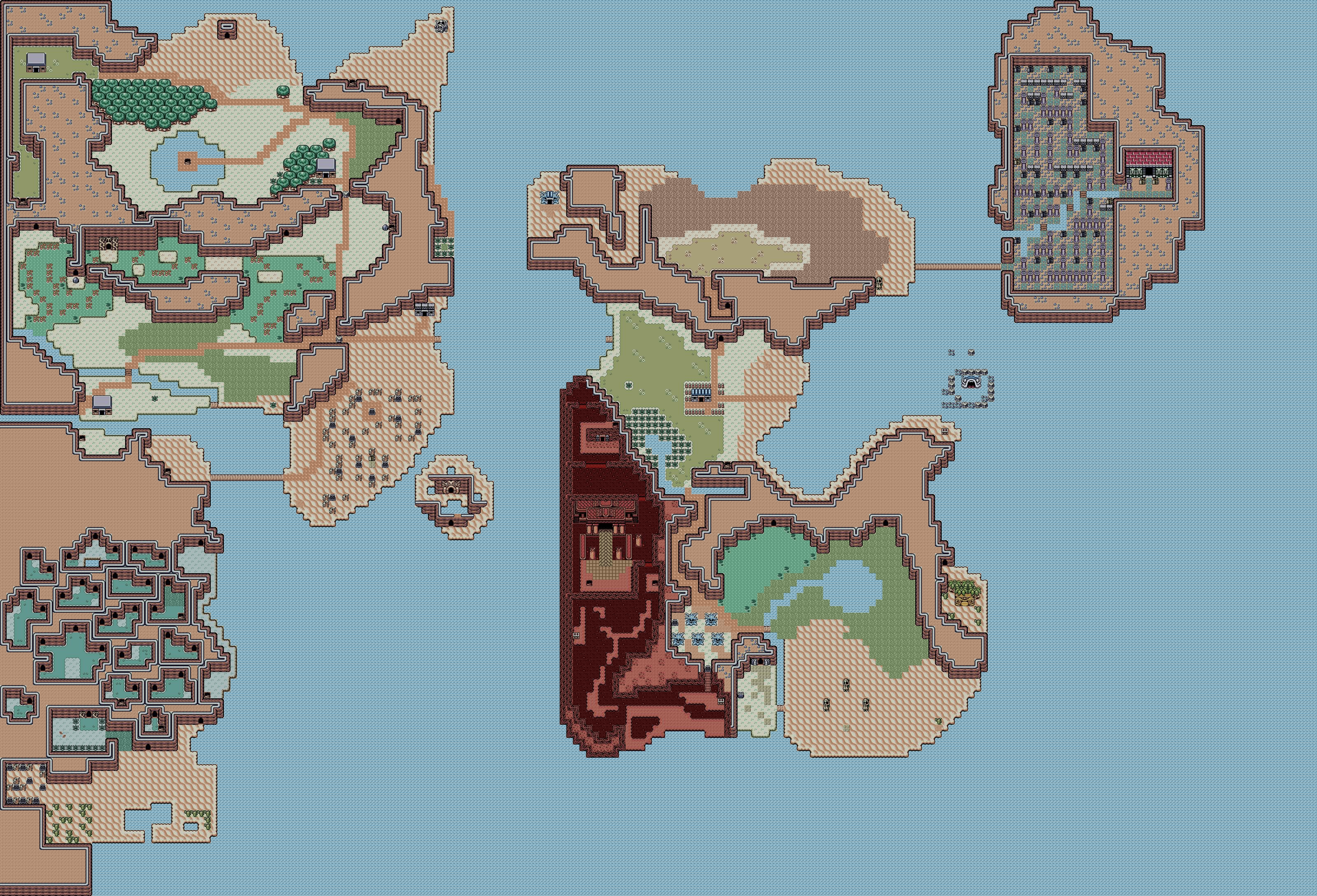 Zelda II World Map -( Link awakening Tiles ) by Hyrule452 on