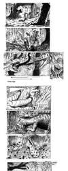 Storyboard Jurassic park 3 scene by Kazumaki