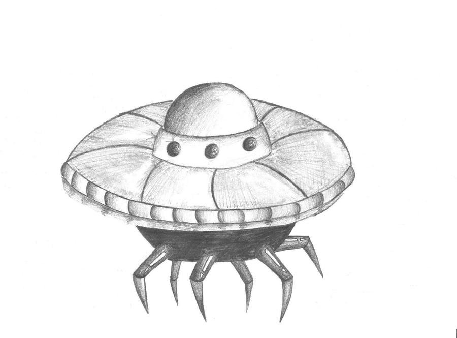 Jyydek Alien Spaceship Cartoon