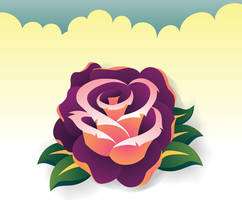 Rose in illustrator by jerrrroen